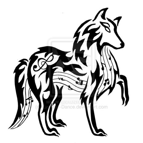 musical tribal tattoo designs musical wolf by dansudragon on deviantart