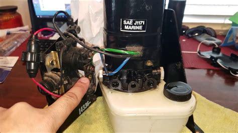 mercruiser tilt trim  working fix  testing  pump