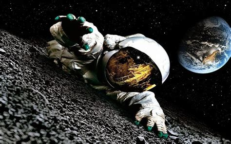 filme schauen from the earth to the moon astronaut auf dem mond hintergrundbilder