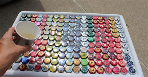 how to make a bottle cap table 18 diy beer bottle cap table designs guide patterns