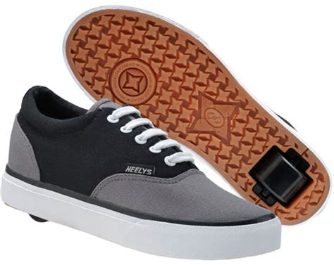sneakers with wheels for adults heelys karma skate shoes 7568 black gray white mens and