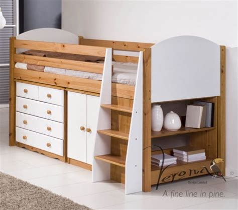 Mid Sleeper Beds Ireland by Verona Painted Midsleeper
