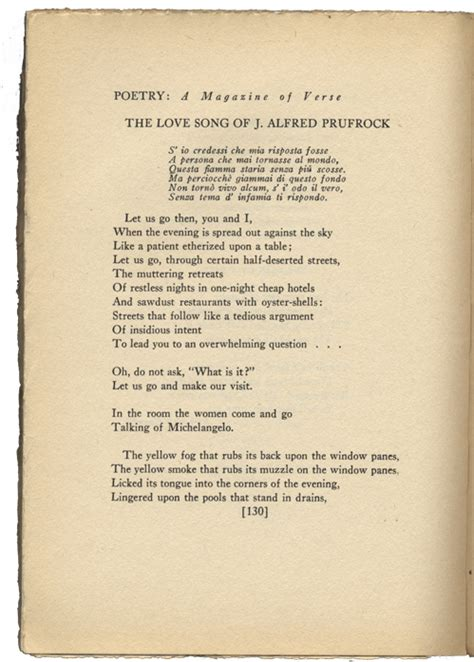 themes of the lovesong of j alfred prufrock required reading the lovesong of j alfred prufrock by t