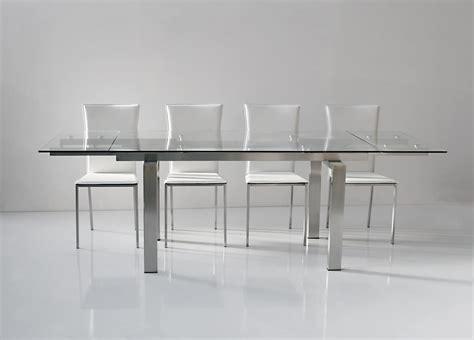 tavolo in vetro temperato tavolo allungabile piano e allunghe in vetro temperato