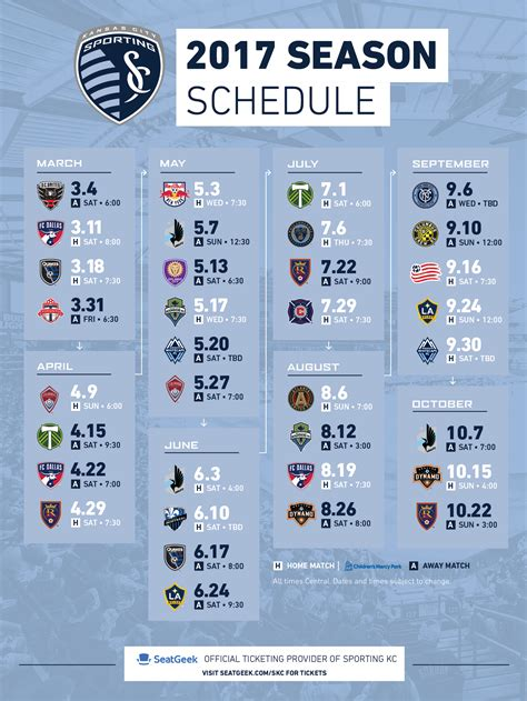 Sporting Kc Printable Schedule