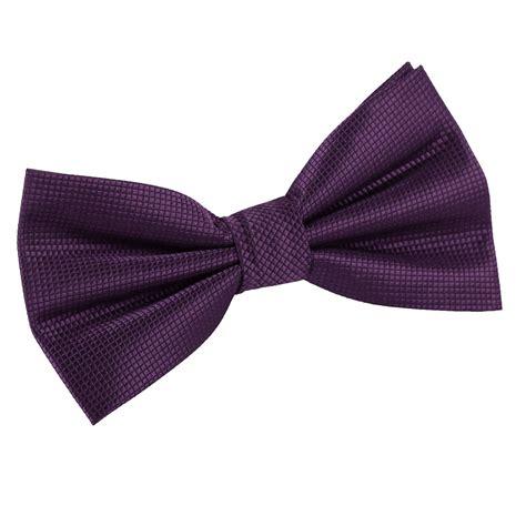 Bowtie Regular Purple dqt woven plain solid check cadbury purple formal classic