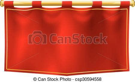 medieval banner flag . a medieval style red banner flag