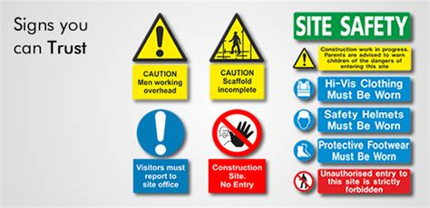 Vinyl Wall Sticker Printing construction road signage hse amp rsa compliant safety signs