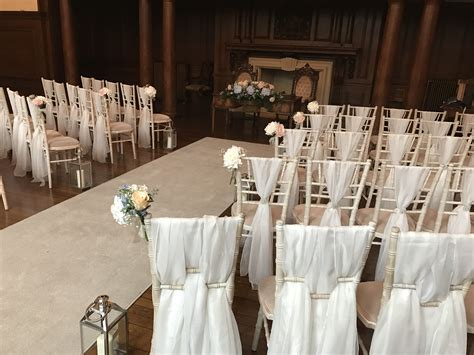 chair drapes blush with blue hydrangea and chiffon chair drapes at