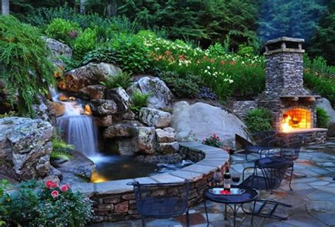 waterfall backyard backyard pond pictures