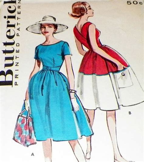 50s swing dress pattern uncut sewing pattern 50s dress full swing one piece wrap