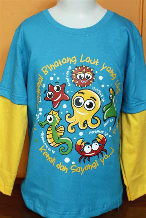 Kaos Anak Kaos Mufrodat Kaos Edukasi kaos anak edukasi hewan laut baju kaos anak edukasi