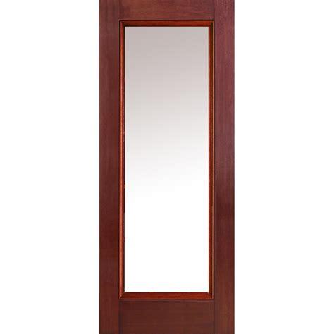 Lite Entry Door by Doorbuild Classic Collection Fiberglass Mahogany Prehung