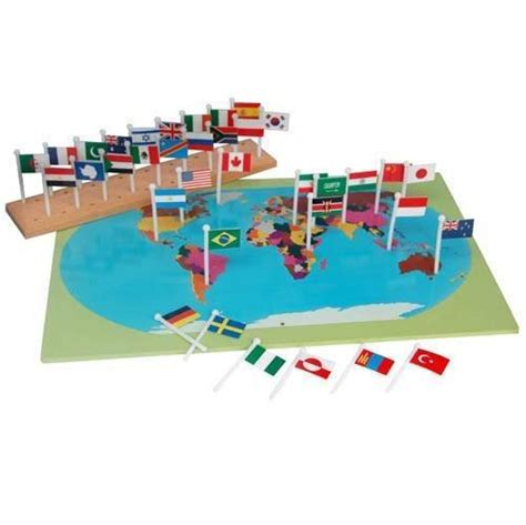 flags of the world montessori montessori map with world flags righttolearn com sg
