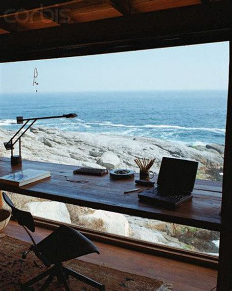 beach style office desk 15 awesome workspaces with beautiful view house design