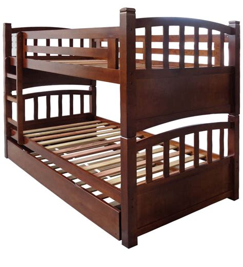 pull out bunk bed buy mclamar bunk bed with pull out in walnut finish by mollycoddle bunk beds beds