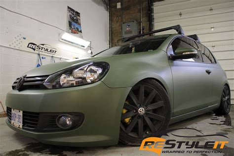 Auto Fußmatten Vw Golf 6 by Vw Mk6 Matte Military Green Vehicle Customization Shop