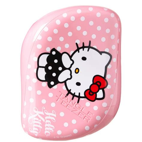 Tangle Teezer Compact Styler Hello Black tangle teezer compact styler hello hair brush pink free shipping lookfantastic