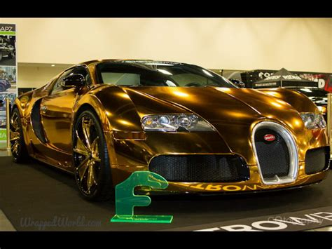bugatti wheels gold golden gatti flo rida s gold chrome wrapped bugatti