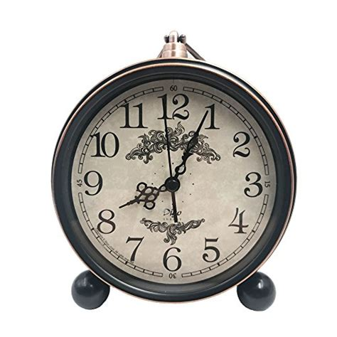 5 5 classic retro clock justup european style vintage silent desk alarm clock non ticking