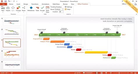 Pros Cons Of Office Timeline Analysis Of Leading Project Management Software Financesonline Com Office Timeline Free