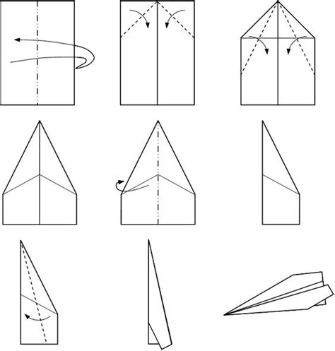 Paper Airplane Folding Template - basic paper airplane template images paper