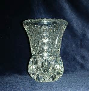 vintage lead vase and clear glass