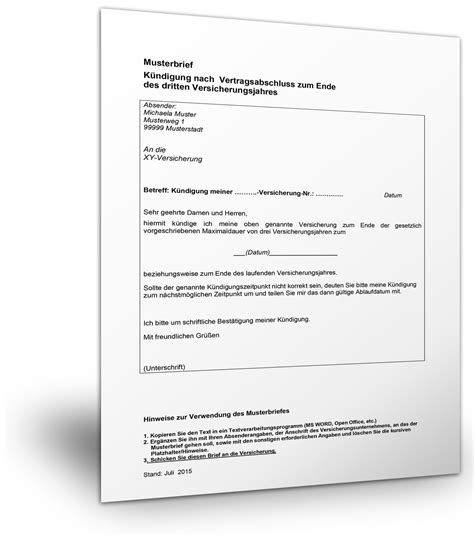Musterbrief Zur Abmeldung Der Gez Gebührenpflicht Musterbrief Versicherung K 252 Ndigen