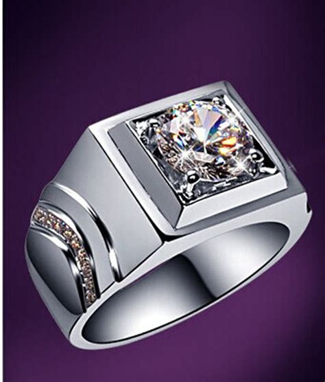 Cincin White Luxury Ring 020 generous rings for sterling silver 1carat synthetic diamonds wedding rings jewelry