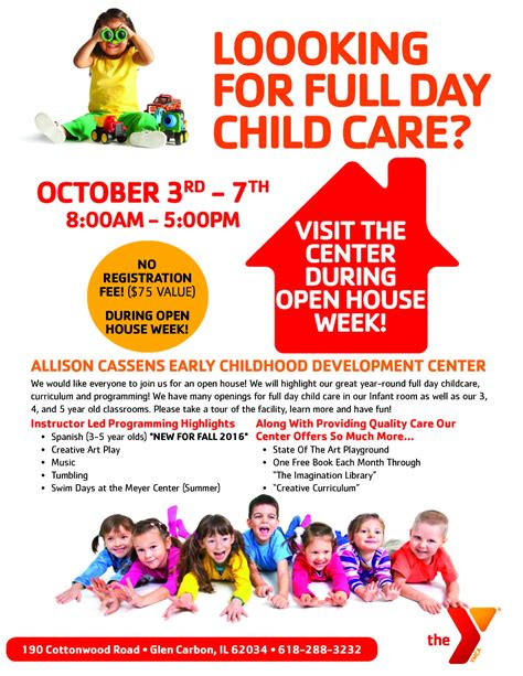 child care flyer templates daycare flyer