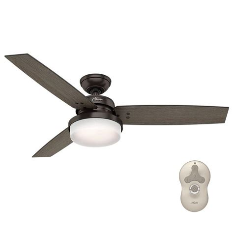 universal remote ceiling fan sentinel 52 in led indoor premier bronze ceiling