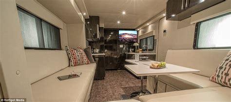 luxury caravans inside cr 1 carbon caravan styled on f1 cars and ferraris