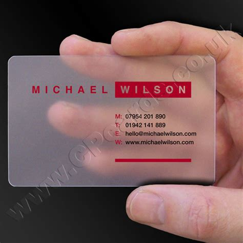 Frosted Business Cards