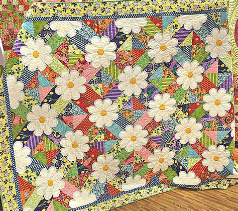 Patchwork Flowers - how to make quilt patchwork on flowers