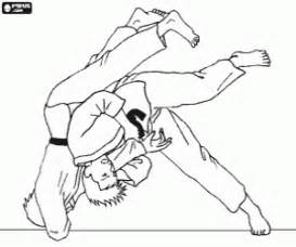 Movement Of Judo On The Tatami Coloring Page sketch template