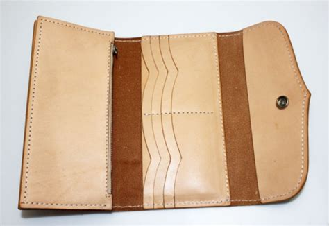 Handmade Wallet Leather - handmade leather wallet leather checkbook wallet bagswish