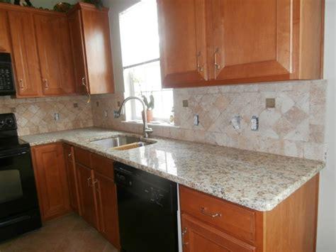Kitchen Backsplash Colors by Giallo Napoli Granite Countertops Installed In Charlotte