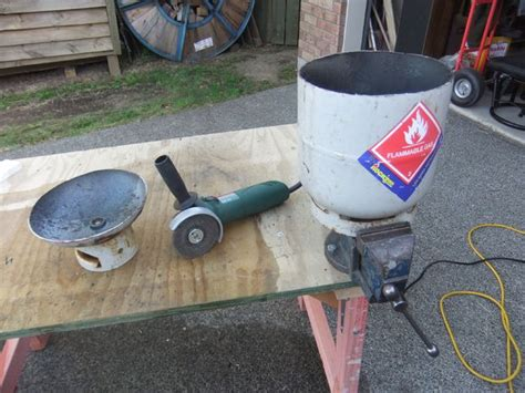 bottle pit gas bottle pit brazier barbeque grill do it