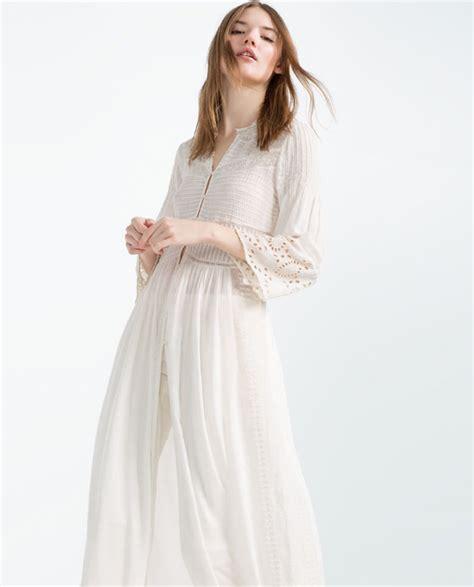 Dress Aleda Maxi Cotton Zara Import embroidered flowing robe maxi dresses zara