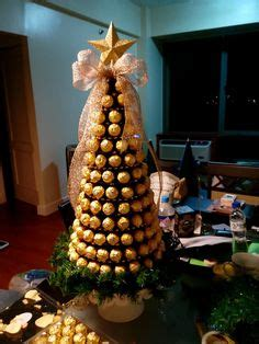 roche christmas tree ferrero rocher tree diy tree bouquet and gift