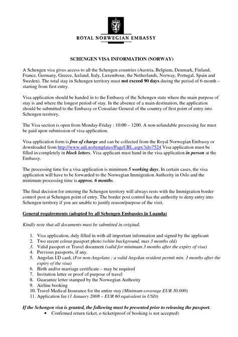 valid job letter visa application