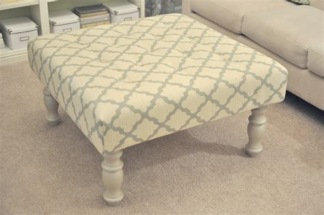ottoman from coffee table diy not so newlywed mcgees diy upholstered ottoman