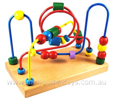 bead toys wire bead maze traditional at my wooden toys