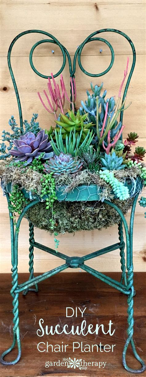 how to make a succulent planter set a place in the garden for a succulent chair planter