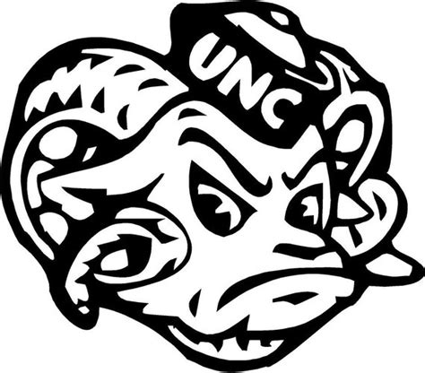 unc university of north carolina large ram logo north carolina tar heels logo free coloring pages