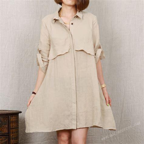 khaki 2016 cotton linen shirt casual bouse fashion