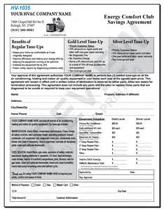 Hvac Service Contract Template by Free Design Fast Shipping On Hvac Forms Hvac Invoices