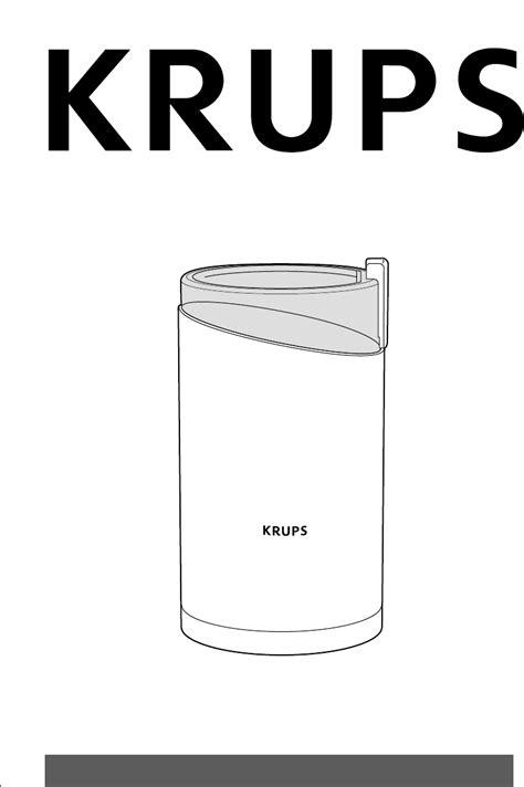 Krups Coffee Grinder F 203 User Guide Manualsonline Com