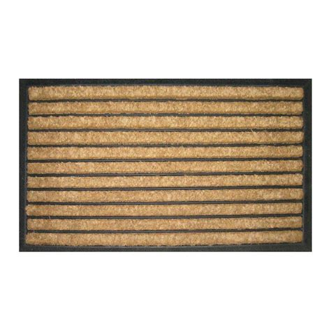 Recycled Door Mats Entryways Striped 18 In X 30 In Recycled Rubber And Coir