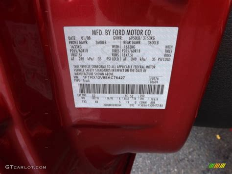 2008 ford f150 fx2 sport supercrew color code photos gtcarlot